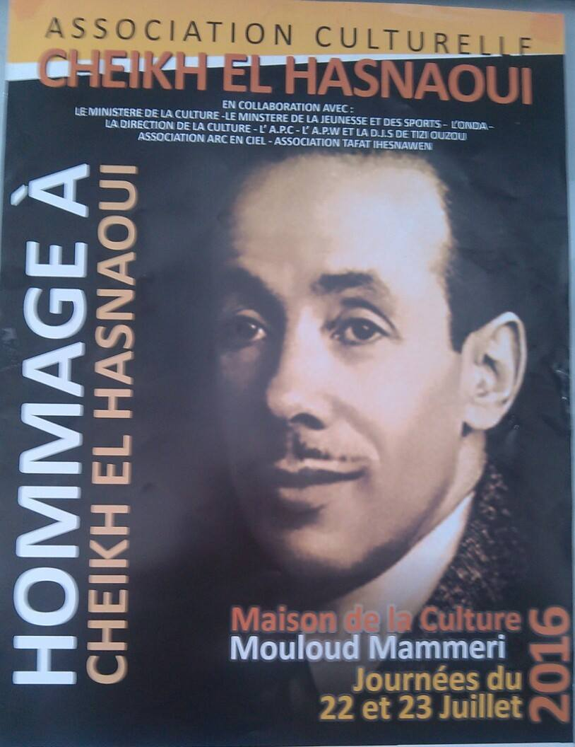 Affiche Hommage Cheikh el hasnaoui